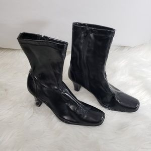 Aerosoles Faux Patent Leather Mid Calf Boots